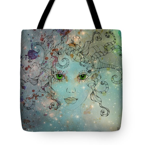 Tote Bag featuring the digital art Different Being by Barbara Orenya