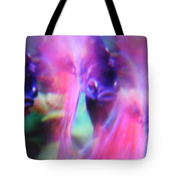 Digital Abstract With Fish 6 Tote Bag