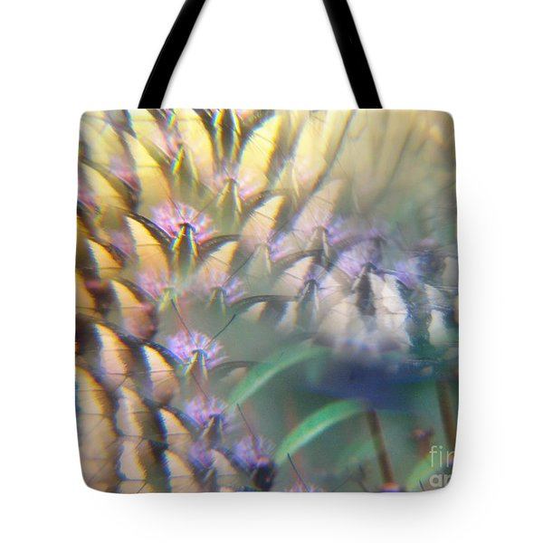 Digital Art Abstract With Swallowtail Tote Bag