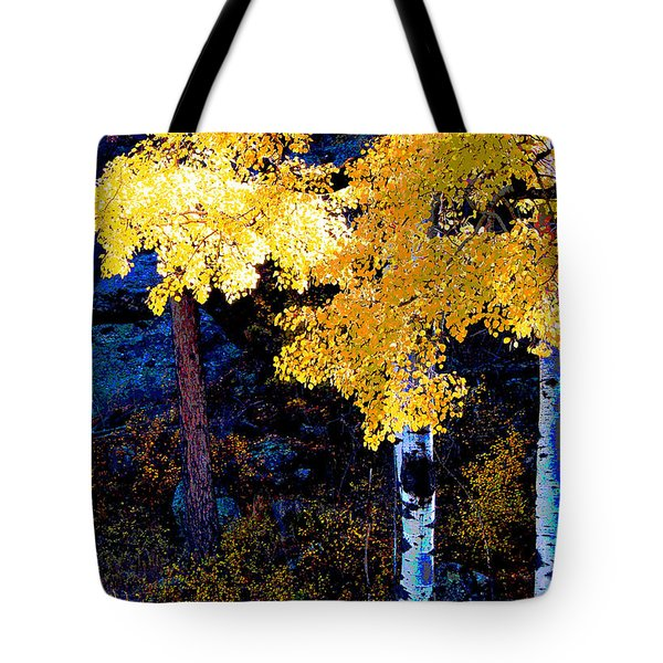 Digital Aspen Tote Bag by Linda Cox