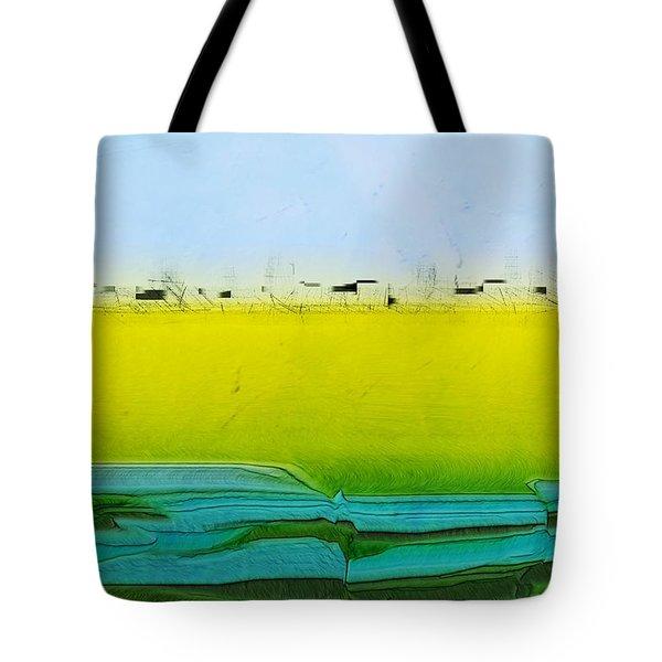 Digital City Landscape Tote Bag by Kae Cheatham
