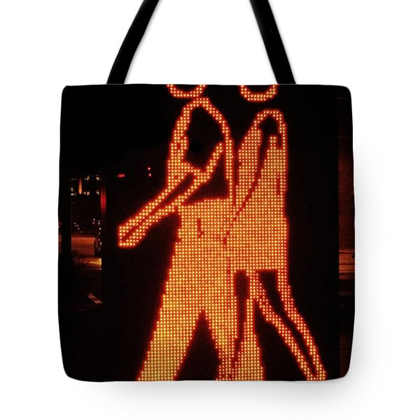 Digital Couple At City Garden Tote Bag
