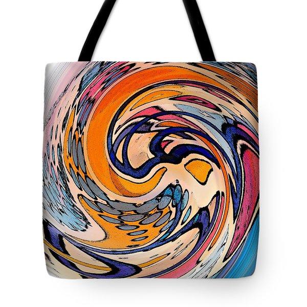 Digital Dunkin Tote Bag by Sarah Loft