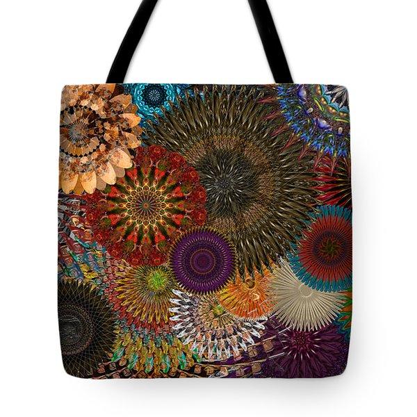 Digital Flowers 001 Tote Bag by Stuart Turnbull