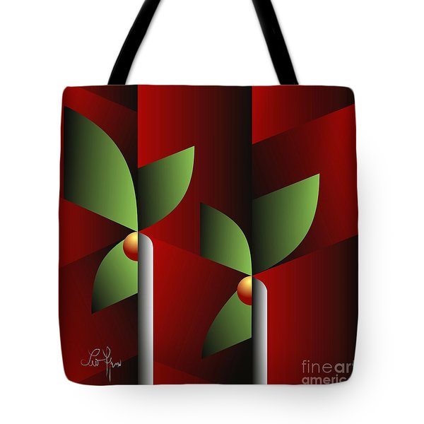 Tote Bag featuring the digital art Digital Garden by Leo Symon