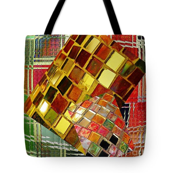 Digital Mosaic Tote Bag by Sarah Loft