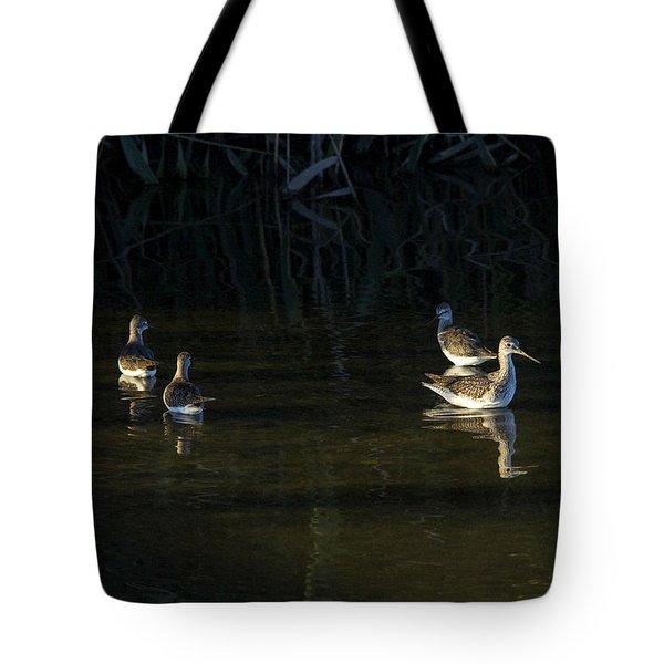Digital Oil Of Sandpipers Tote Bag