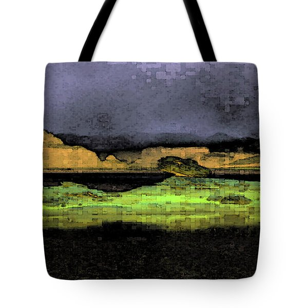 Digital Powell Tote Bag