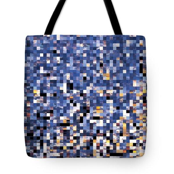 Digital Sunset Tote Bag by Nina Ficur Feenan