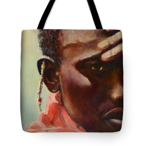 Tote Bag featuring the painting Dignity by Sher Nasser
