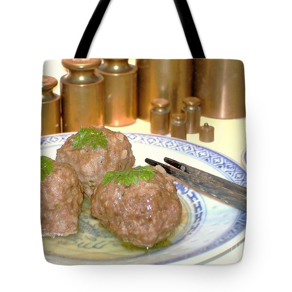 Tote Bag featuring the photograph Dim Sum - Beef Balls by Katy Mei