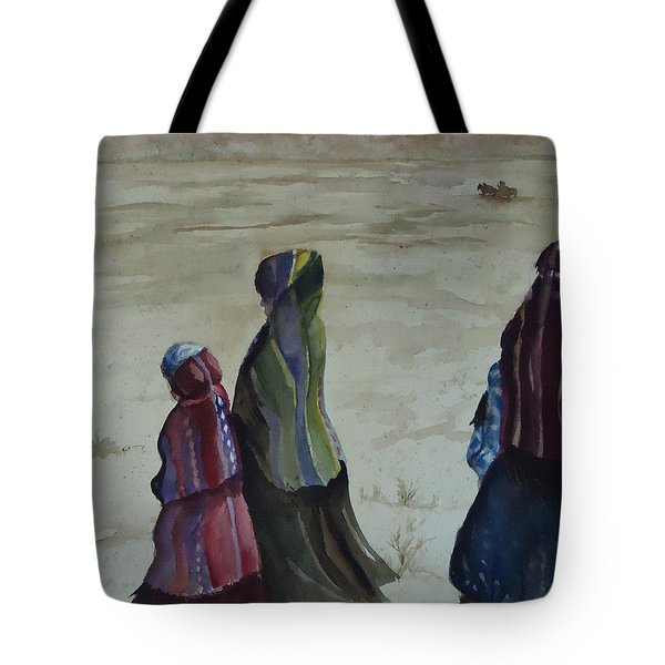 Dineh Leaving The Trading Post Tote Bag