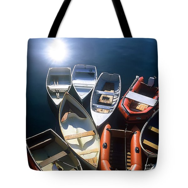 Tote Bag featuring the photograph Dinghies And Rowboats - Maine by David Perry Lawrence