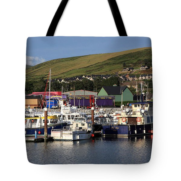 Dingle Harbour County Kerry Ireland Tote Bag by Aidan Moran