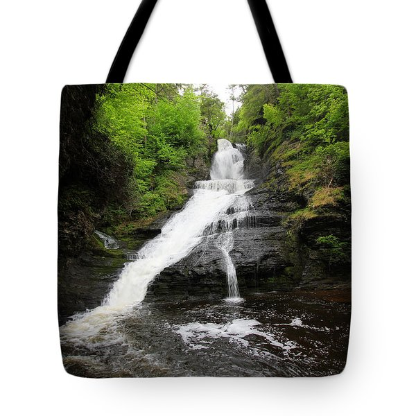 Tote Bag featuring the photograph Dingmans Falls by Trina  Ansel