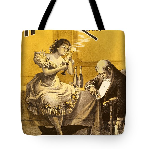 Dining A High Roller Girl After The Show Tote Bag by Aged Pixel