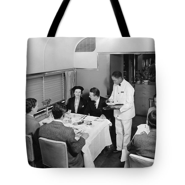Dining Car On Denver Zephyr Tote Bag