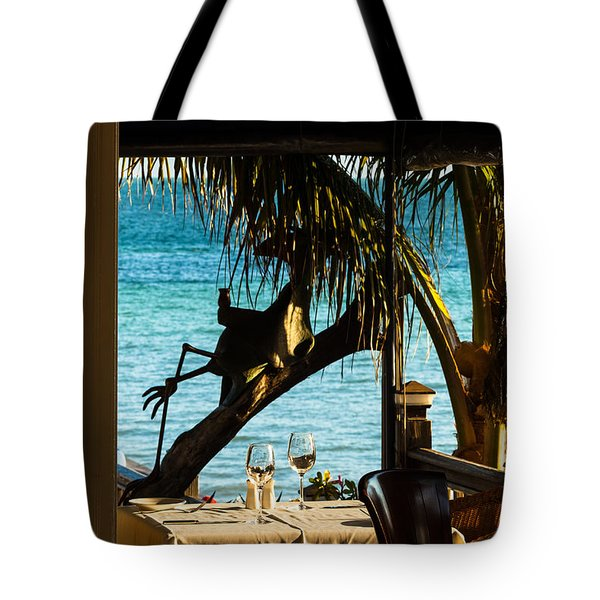 Dining For Two At Louie's Backyard Tote Bag
