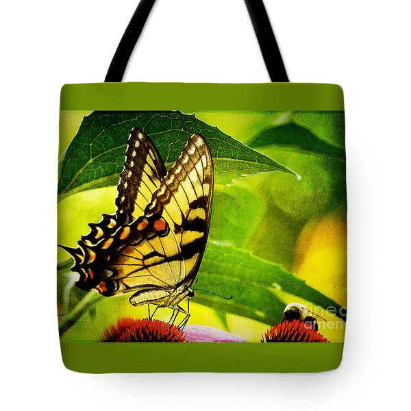 Dining With A Friend Tote Bag by Lois Bryan