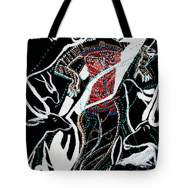 Tote Bag featuring the painting Dinka Dance by Gloria Ssali