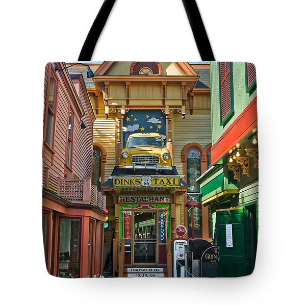 Dinks Taxi In Bar Harbor Tote Bag