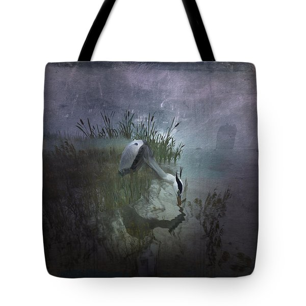 Tote Bag featuring the digital art Dinner Alone by Kylie Sabra
