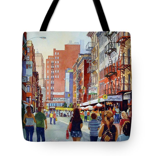 Dinner In Little Italy Tote Bag