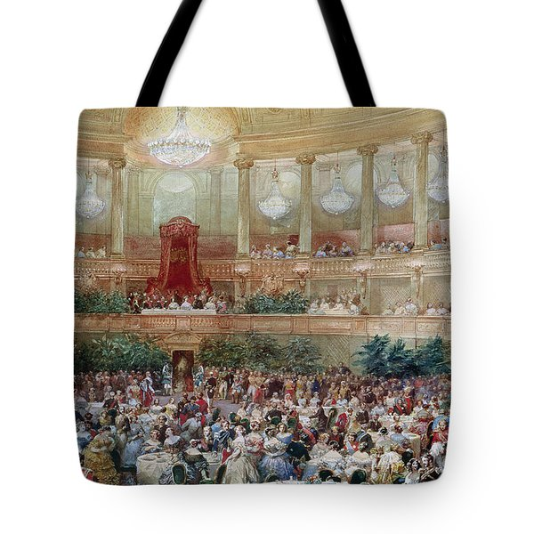 Dinner In The Salle Des Spectacles At Versailles Tote Bag by Eugene-Louis Lami