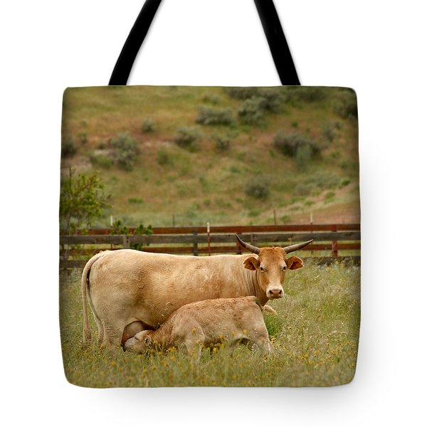 Dinner Time Tote Bag by Art Block Collections