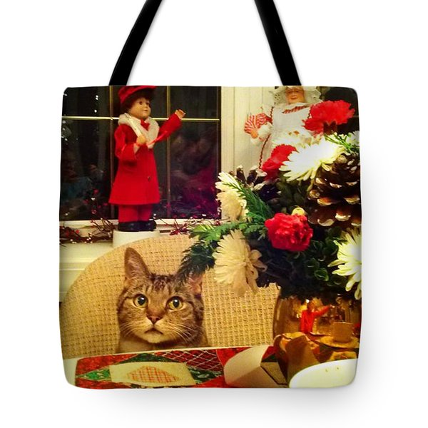 Dinner Time Tote Bag by Catie Canetti