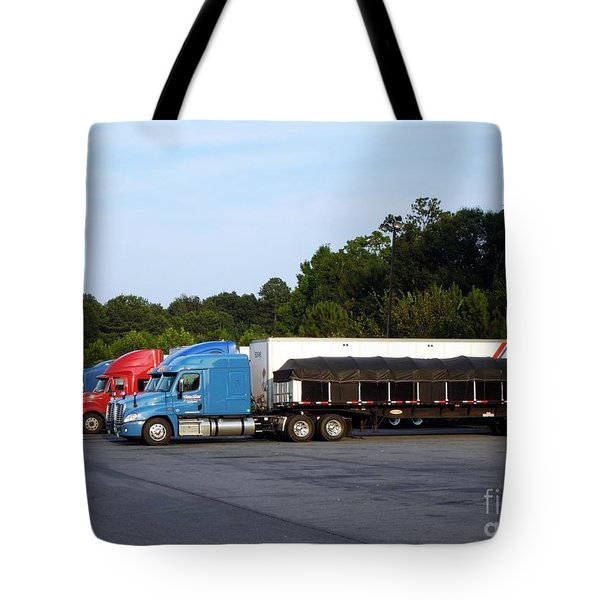 Dinner Time For Truckers Tote Bag