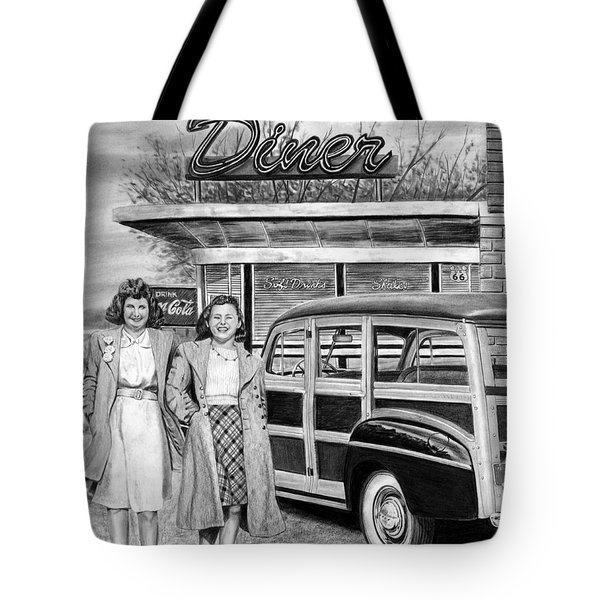 Dinner With The Girls Tote Bag by Peter Piatt