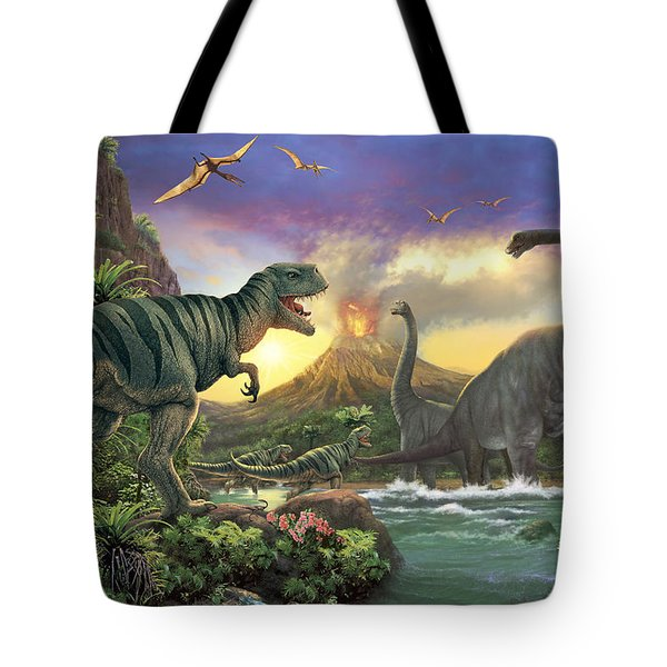 Dino Attack Variant 1 Tote Bag