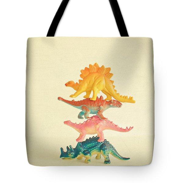 Dinosaur Antics Tote Bag