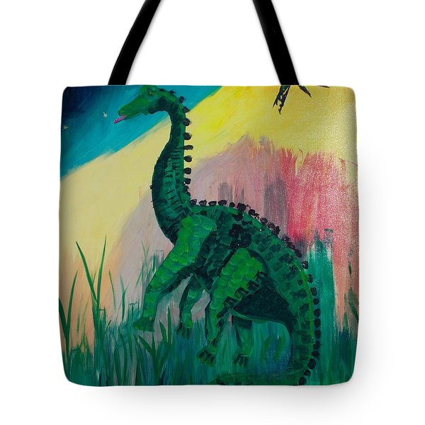 Dinosaur Tote Bag by PainterArtist FIN