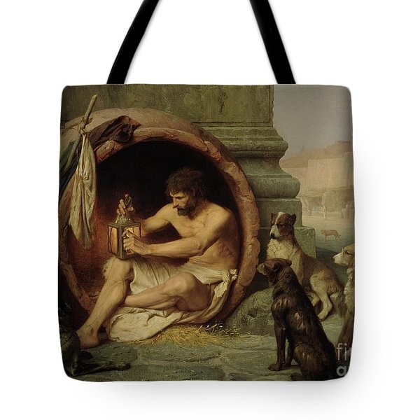 Diogenes Tote Bag by Jean Leon Gerome