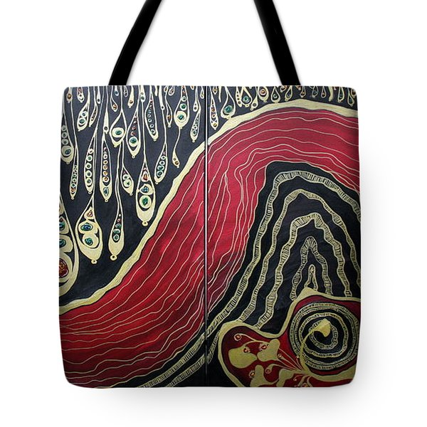 Dipped In Gold Diptich Tote Bag