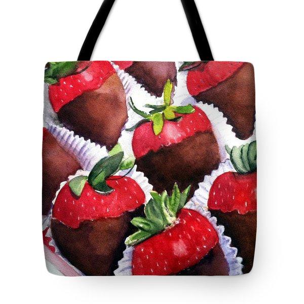 Dipped Strawberries Tote Bag