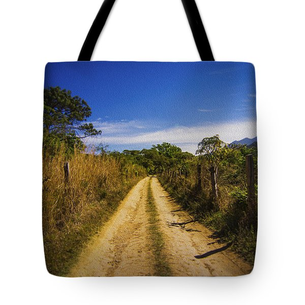 Dirt Road Tote Bag by Aged Pixel