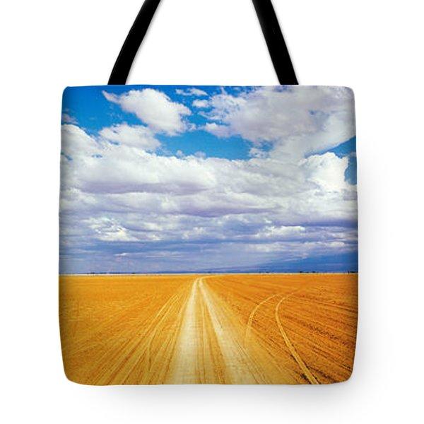 Dirt Road Amboseli Kenya Tote Bag