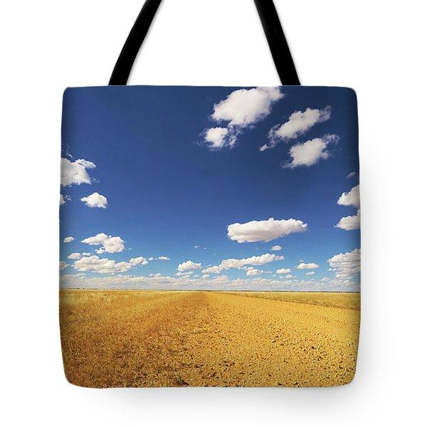 Dirt Road Through Plain Queensland Tote Bag