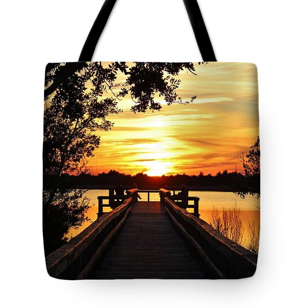 Disappearing Sun  Tote Bag by Cynthia Guinn