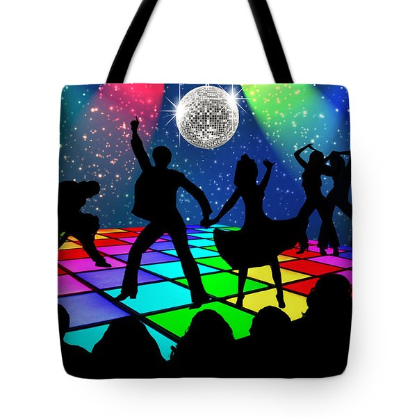Disco Fever Tote Bag by Nina Bradica