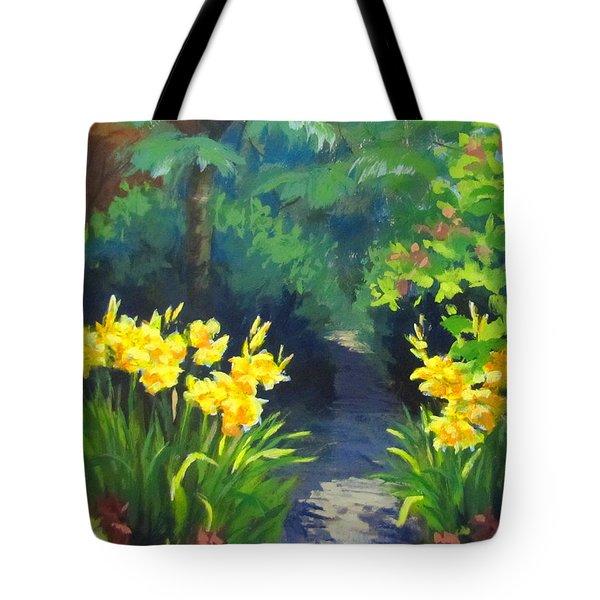 Discovery Garden Tote Bag by Karen Ilari