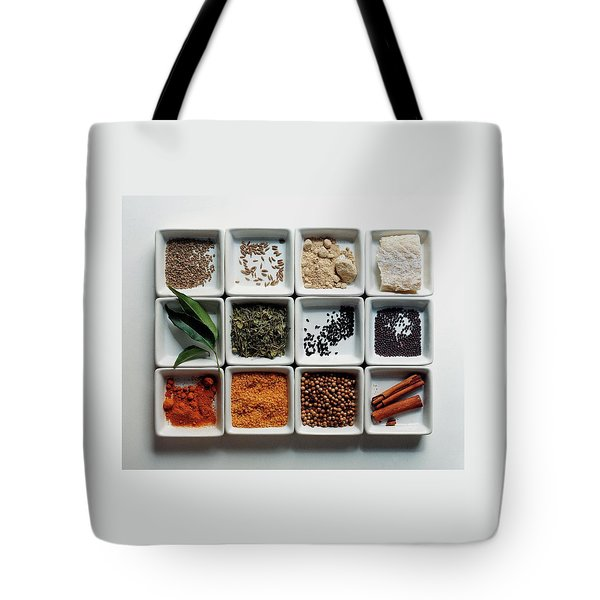 Dishes Of Spices Tote Bag