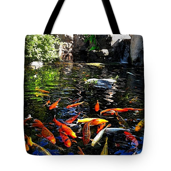 Disney Epcot Japanese Koi Pond Tote Bag