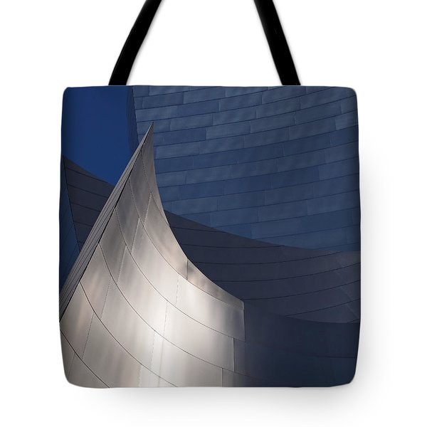 Disney Hall Abstract Tote Bag by Rona Black