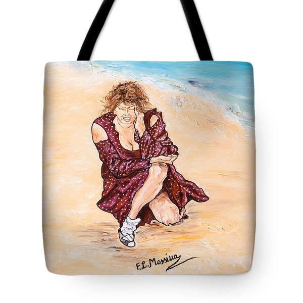 Tote Bag featuring the painting Disperazione by Loredana Messina