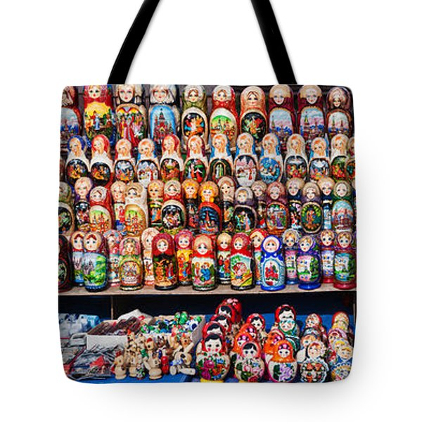 Display Of The Russian Nesting Dolls Tote Bag by Panoramic Images