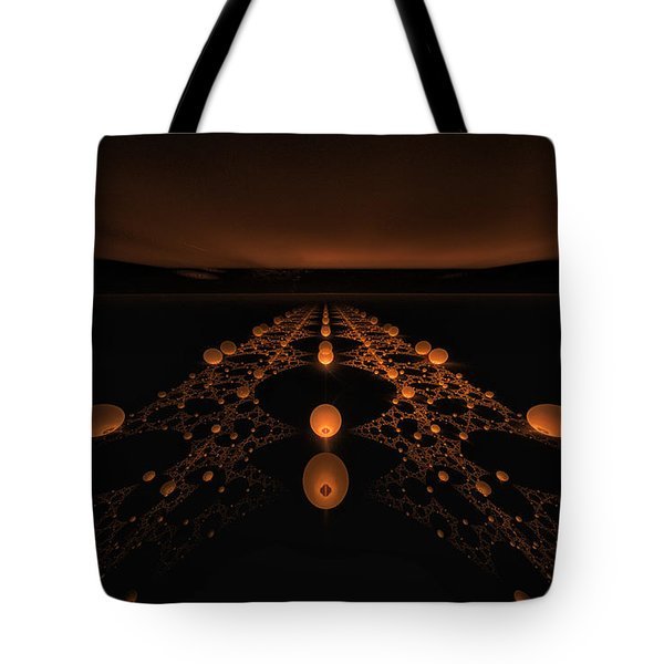 Distant Runway Tote Bag by GJ Blackman